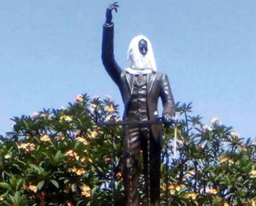 Ultraje a estatua de Martí en Venezuela.